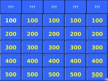 Body Systems Jeopardy Game