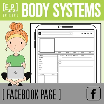 Body Systems Science Facebook Profile Template- No Prep! Print and Go!