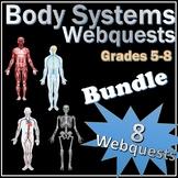 Body Systems Webquests Science Bundle + Vocab Quizzes + Cr