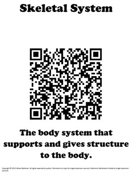 Body System and Organ QR Sort Bundle