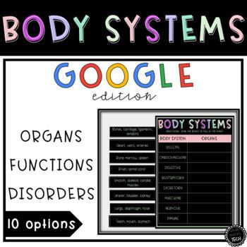 Body Systems Activity