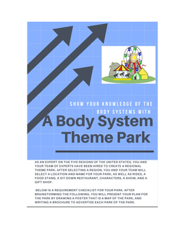 Body Systems Amusement Park Project NGSS MS-LS1-3
