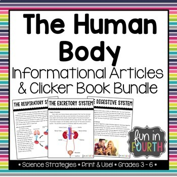 Body Systems Informational Article and Clicker Book Bundle
