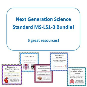 Body Systems Bundle NGSS MS-LS1-3 Activities and Assessment!