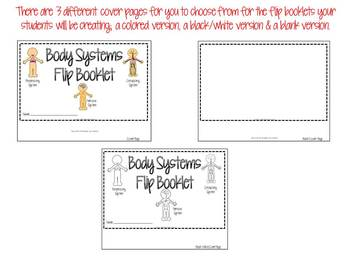 Body Systems-Circulatory, Respiratory & Nervous System Flip Booklet