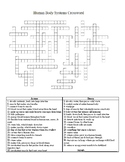 Body Systems Crossword