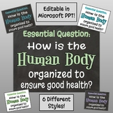 Body Systems Essential Question Posters - Editable in Micr