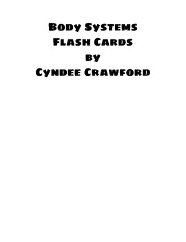 Body Systems Flash Cards
