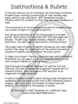 Body Systems PROBE Notebook