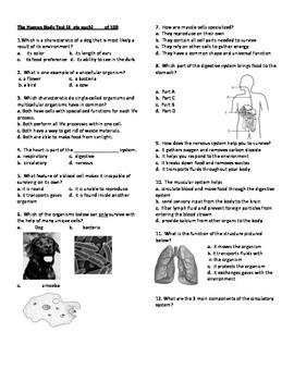 Body Systems & Genetics Test Bundle