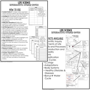 Body Systems, Healthy Lifestyles Interactive Guided Notes & PowerPoints, Google