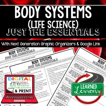 Body Systems Just the Essentials Content Outlines Next Generation Science Google