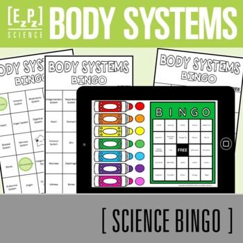 Body Systems Overview Science BINGO