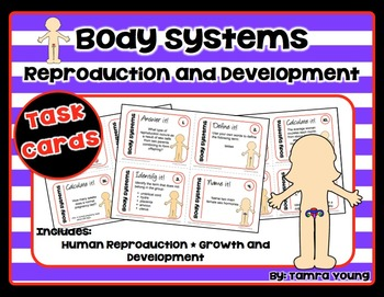 Body Systems: Reproduction and Development {Task Cards}