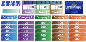 Body Systems - Review Jeopardy Game - Round 1, Middle School Science