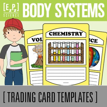 Body Systems Science Trading Cards
