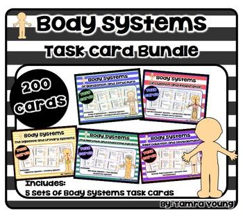 Body Systems Task Card Bundle {5 Sets}