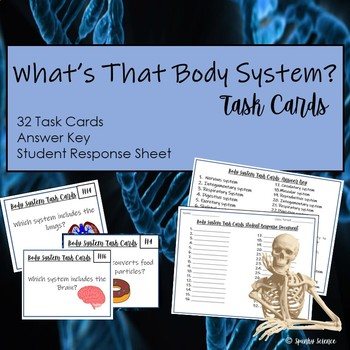 Body Systems Task Cards- 32 Cards with Answer Key