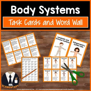 Body Systems Vocabulary Task Cards