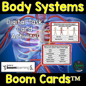 Body Systems Task Cards - Digital Boom Cards™