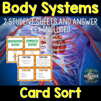 Body Systems Task Cards and Card Sort