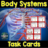 Body Systems Task Cards and Card Sort - Distance Learning Compatible