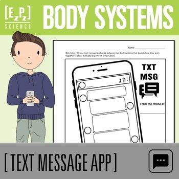 Body Systems Text Message Science Template