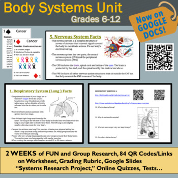 Human Body Systems 2-Week Unit: 11 Fun, Interactive, Educational Lessons!
