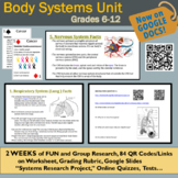 Human Body Systems Digital Resource: Google Slides of Worksheets + 84 QR Codes