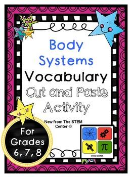 Body Systems Vocabulary Activity
