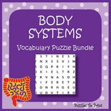 Human Body Systems Bundle - 3 Vocabulary Puzzles