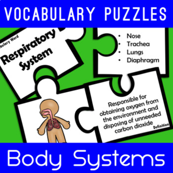 Body Systems Vocabulary Puzzles