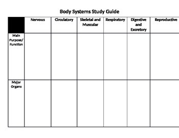 """Body Systems and Organs - """"How do they work together?"""" - Assessment"""