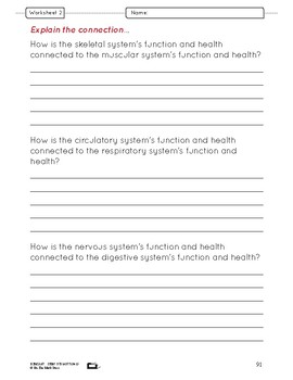 Body Systems at Work Lesson Plans Grade 8