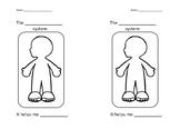 Body Systems half-sheet worksheet