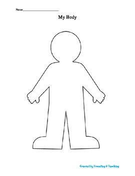 person template preschool - body template worksheet by traveling and teaching tpt