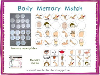 Body Theme for Preschool ELL