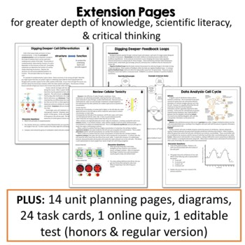 Body Tissues & Systems: PowerPoint & Doodle Notes Interactive Notebook