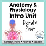 Intro to Anatomy: PowerPoint, Illustrated Notes, & Game