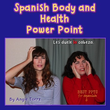 Spanish Body and Health PowerPoint & Interactive Notebook Activities