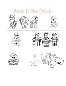 Body in the Group Activity Sheet
