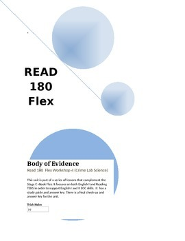 Body of Evidence- Read 180 rBook Flex (Workshop 4) English1 Supplement