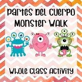 "Body parts ""Partes del cuerpo"" Spanish activity monsters g"