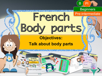 Body parts in French, le corps full lesson for beginners