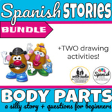 Body parts in Spanish story with audio (distance learning)