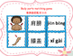 Mandarin Chinese Body parts matching cards game 1 (身体部位配对卡片1)