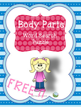 Body parts word search puzzle