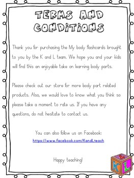 Body parts(flashcards)
