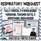 Body systems respiratory webquest 6 7 8 9th grade jr high Texas TEKS 7.12B