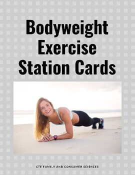 Bodyweight Exercise Station Cards